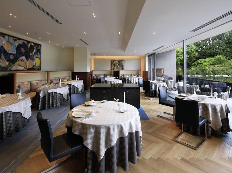 The elegant interior design and art collection