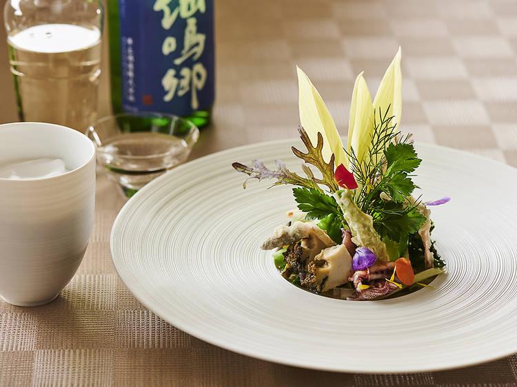 The Modern Japanese dinner with sake pairing