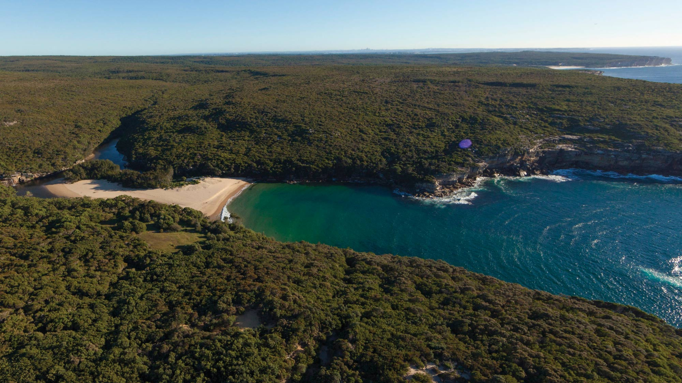 Wattamolla Beach from above