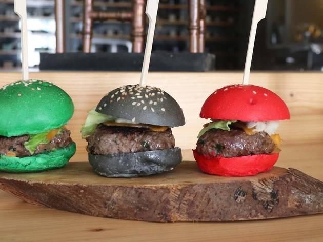 Mini-hambúrguer no Burguês