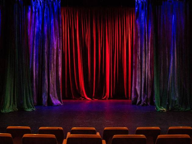 Curtains and theatre seating