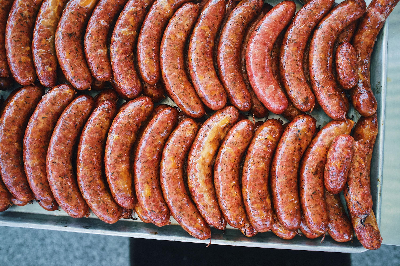 Heritage Barbecue sausages in San Juan Capistrano