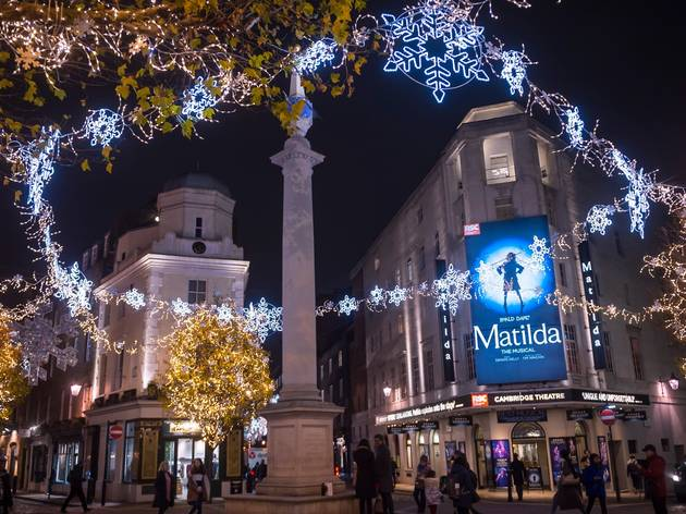 matilda in london at christmas time