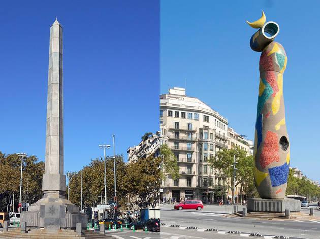 Obelisco o escultura de Miró?