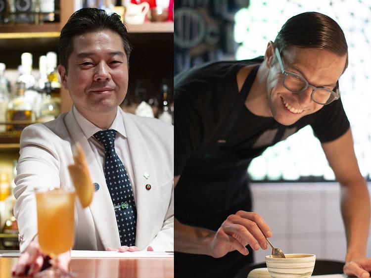 Okra and Mizunara cocktail and otoshi experience
