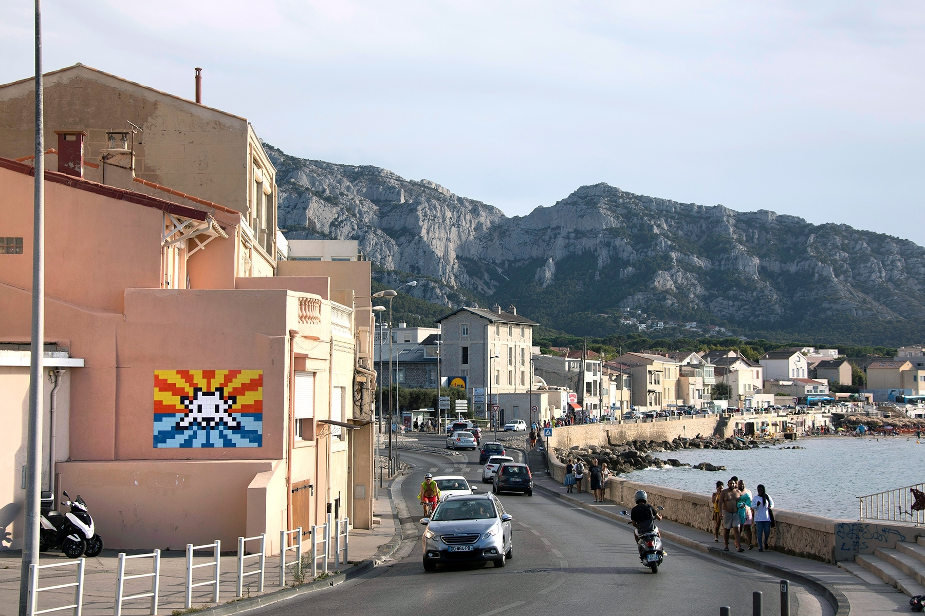 Street artist Invader secretly covered Marseille in mosaics this summer