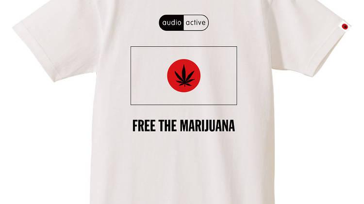 AUDIO ACTIVE『Free The Marijuana T-Shirt』