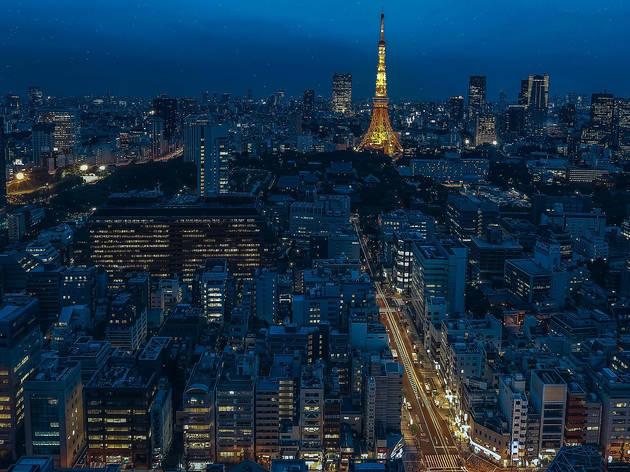 Tokyo skyline at night, Tokyo Tower
