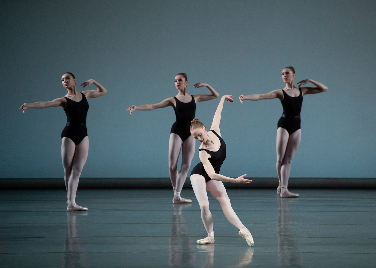 Teresa Reichlen and New York City Ballet in George Balanchine's Episodes at New York City Ballet