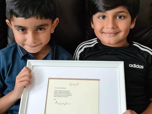 'Lemonade for Yemen-Aid' boys receive donation from Angelina Jolie