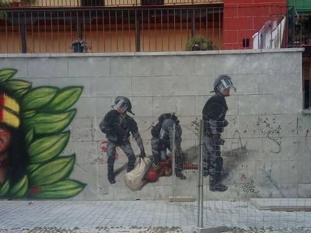 Grafiti en Lavapiés