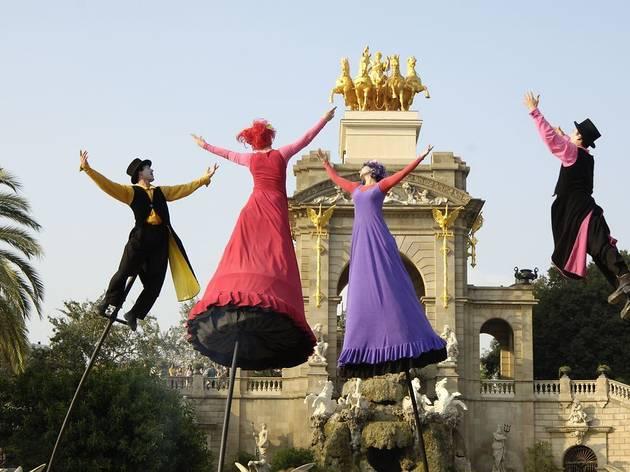 Espectacle de dansa i acrobàcies