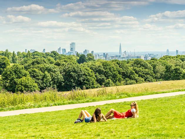 London park heatwave