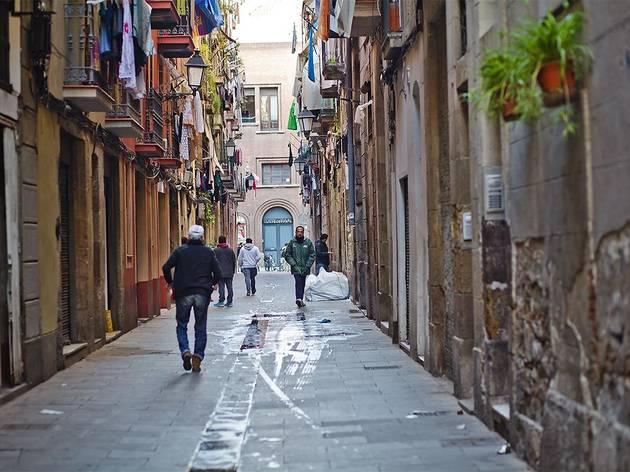 Un carrer del Raval de Barcelona