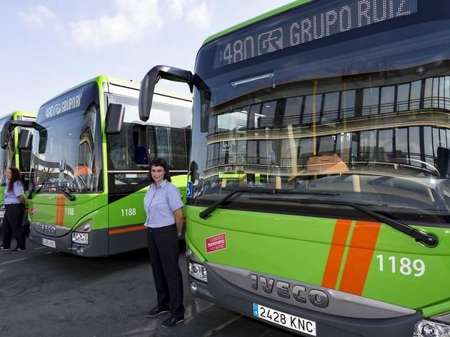 flota de autobuses interurbanos