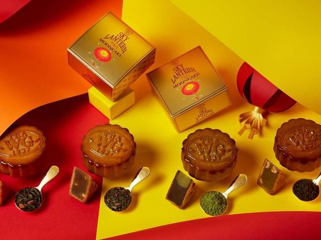 Tea WG sky lantern mooncake tea set