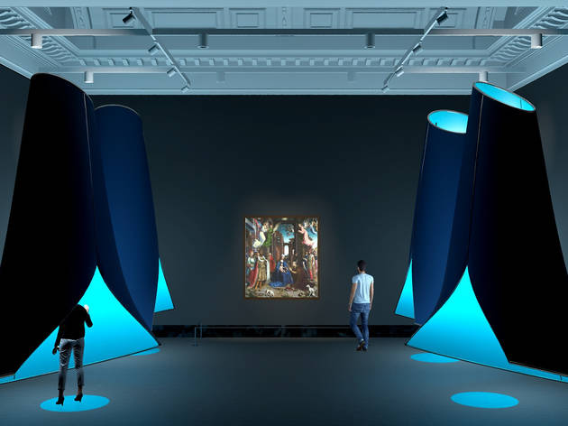 Photograph: An artist's impression of Sensing the Unseen: Step into Gossaert's 'Adoration' at the National Gallery, 9 December 2020 - 28 February 2021. Image by Vasilija Abramovic