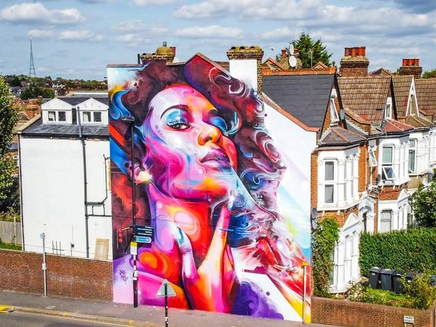 Mr Cenz at London Mural Festival