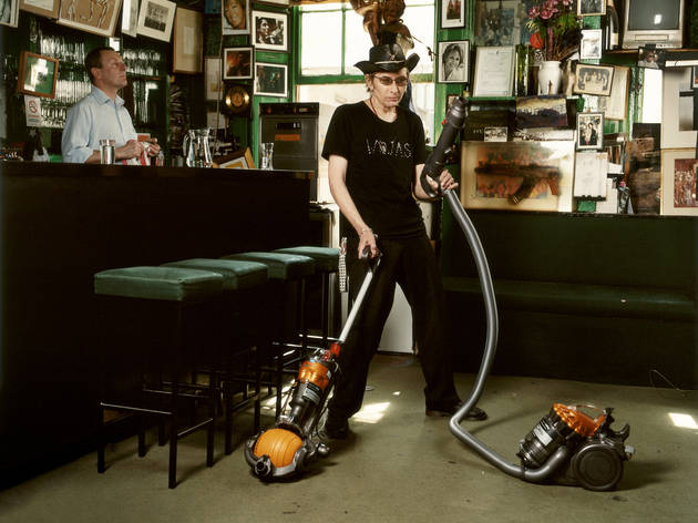 Amelia Troubridge, Michael Wojas hoovering at The Colony Rooms, 2008, Giclée digital archival print, 16 x 12 in. © Amelia Troubridge. Courtesy of Dellasposa Gallery - Juliet Martin.jpg