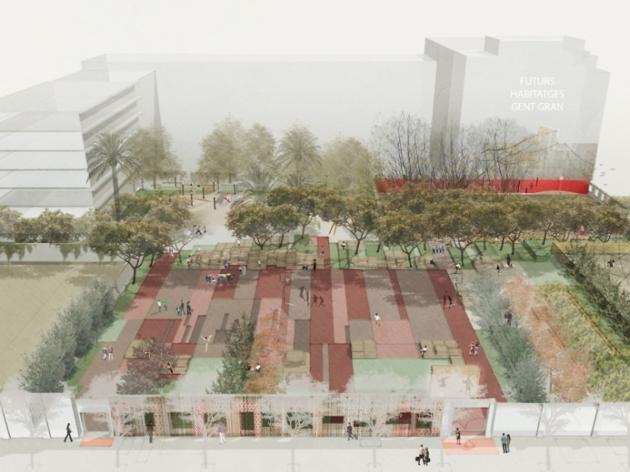 Recreació del projecte final de l'Espai Germanetes i els Jardins d'Emma