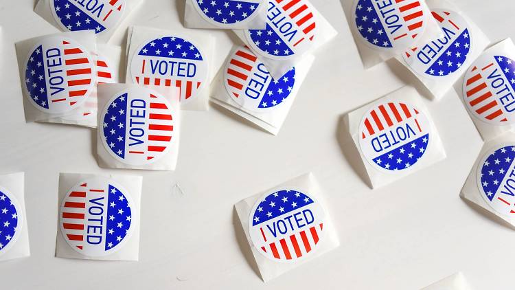 I Voted sticker, vote, election