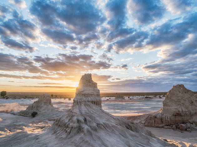 China Wall formations in Mungo National Park