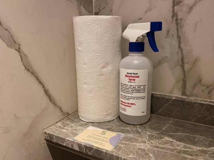Extra cleaning supplies