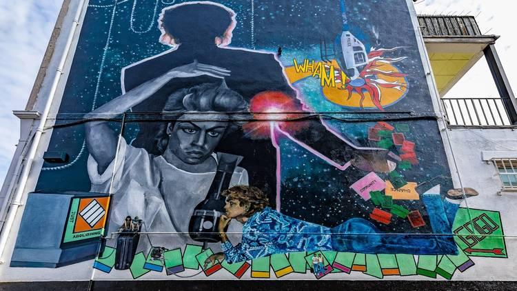 George Michael mural in Brent