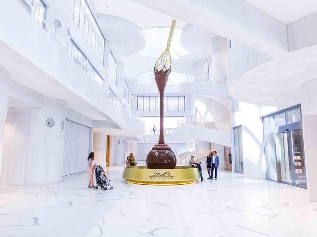 Fuente de chocolate de la Lindt HOme of Chocolate