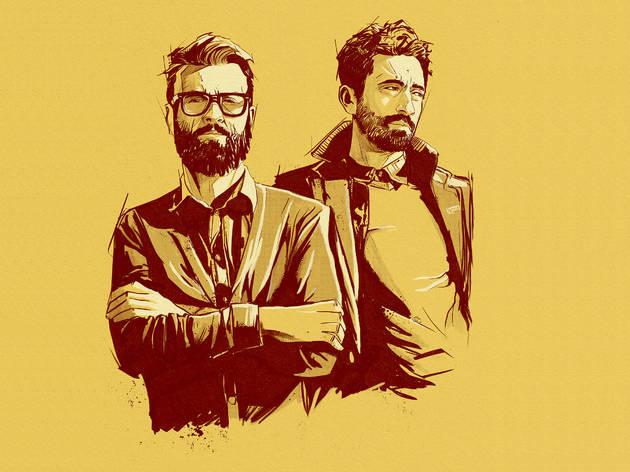 Retrato ilustrado de Filipe Melo e Juan Cavia