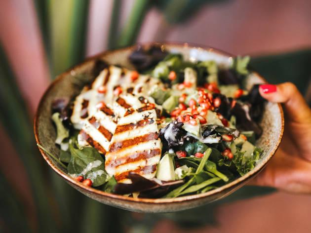 Restaurante, Cozinha Saudável, Yard of Greens, Salada de halloumi