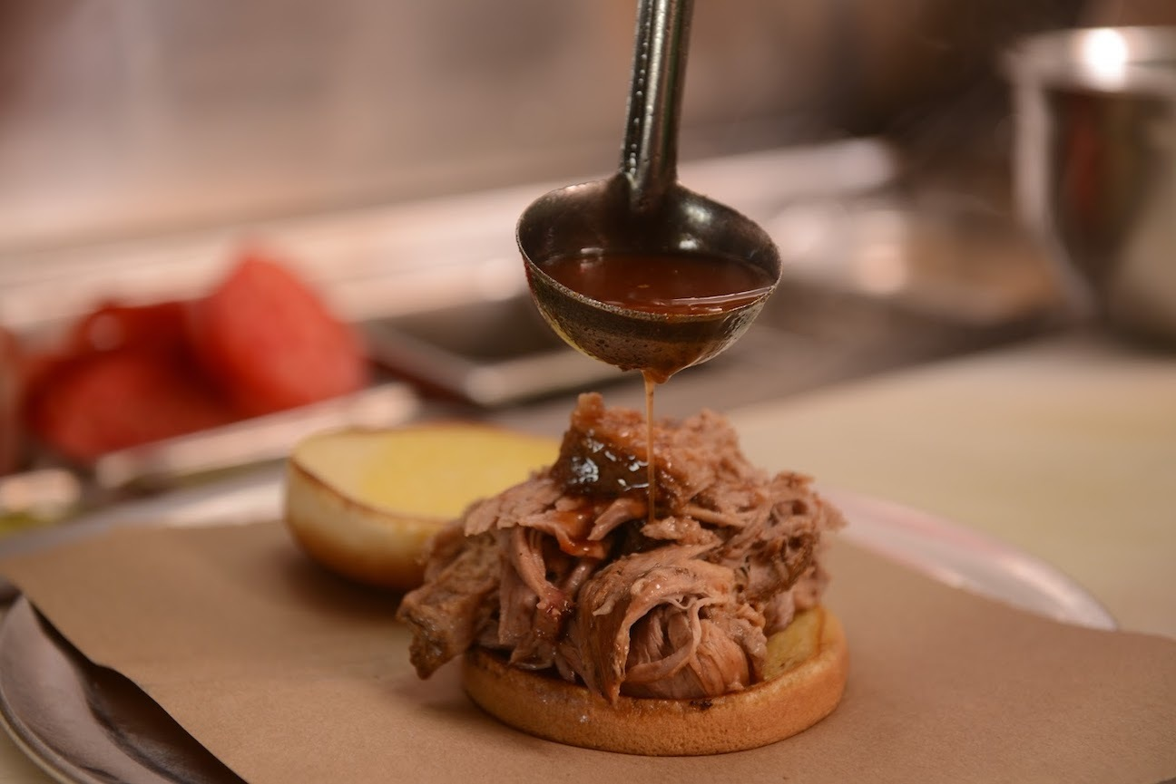 Pulled pork at Saw's BBQ