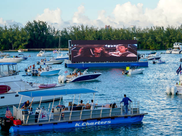 This floating cinema returns to Miami for a month of boat-in movies