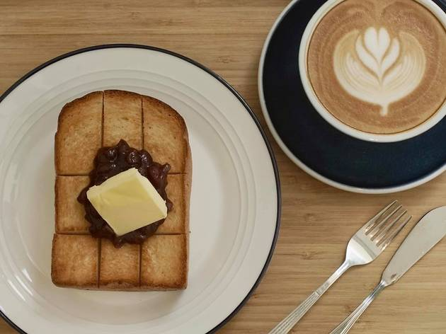 cafe wander red bean toast