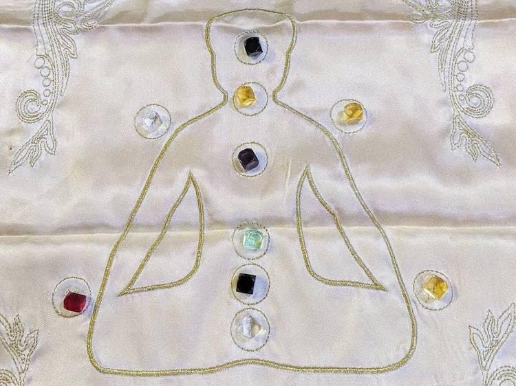 Crystal stone aura reading