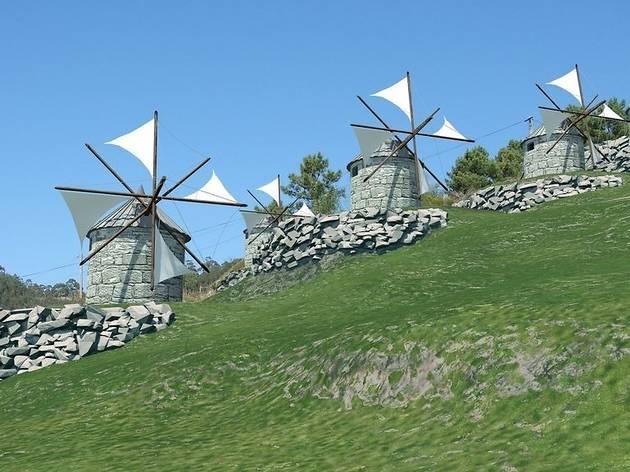 Futuro parque temático de moinhos de vento