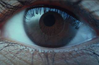 An extreme close up of an eyeball