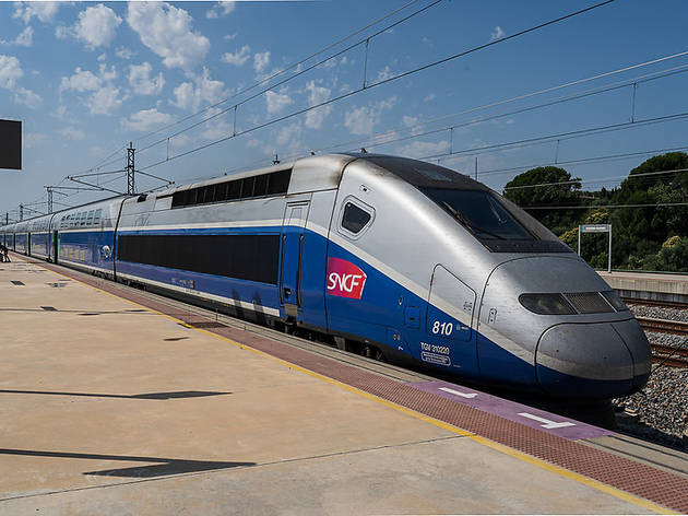 Tren de alta velocidad de la operadora francesa SNCF