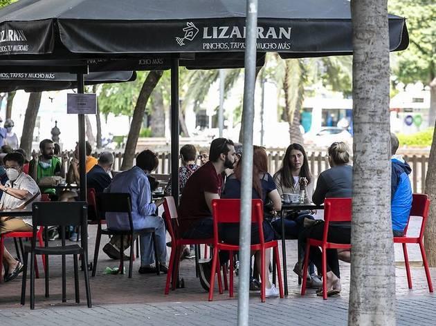 Terrassa de bar a Barcelona