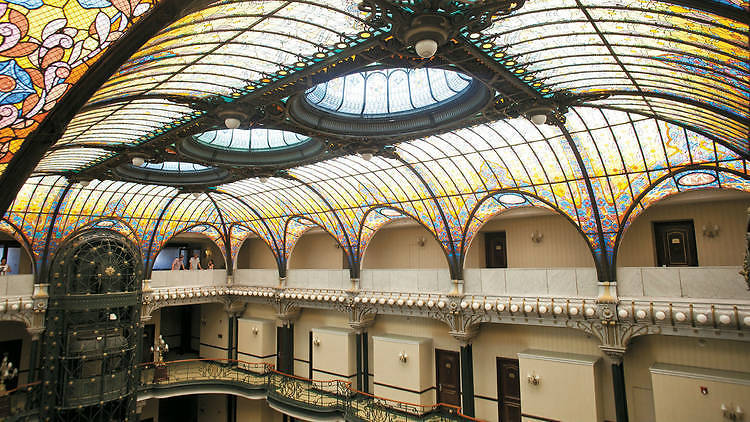 Interior del Gran Hotel de la Ciudad de México