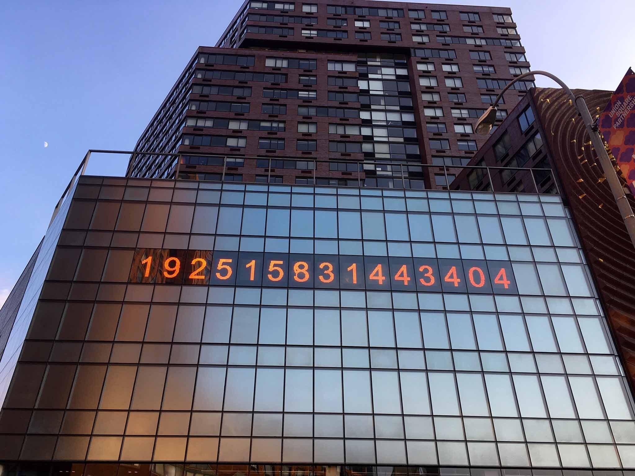 Union Square's giant metronome clock is now a climate crisis countdown