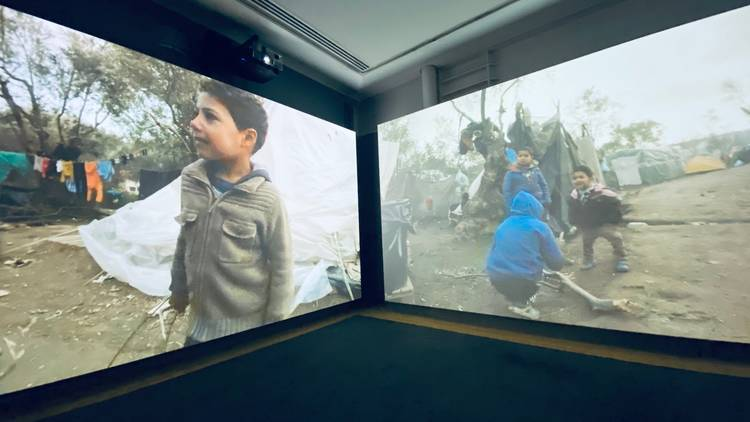 Installation view of 'Life in a Camp', IWM/CNN