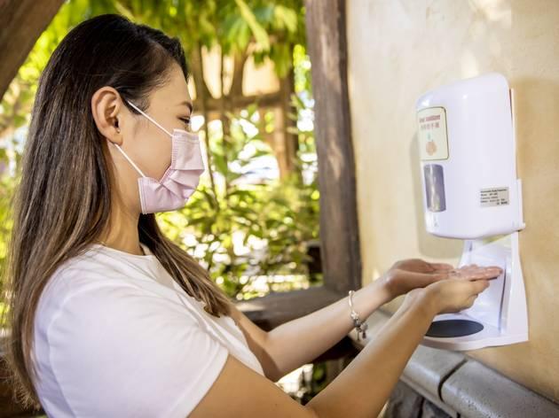Hong Kong Disneyland hand sanitser