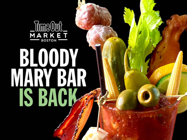 Bloody Mary Bar at Time Out Market Boston