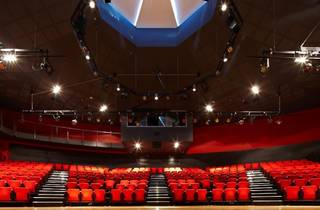interior shot of Actors Centre Australia form stage looking up to ceiling dome