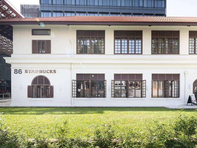 Singapore's newest Starbucks is housed within an old police station in Katong