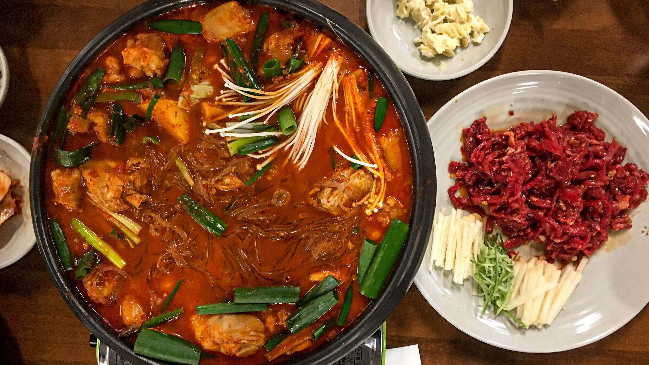 A Korean hot pot