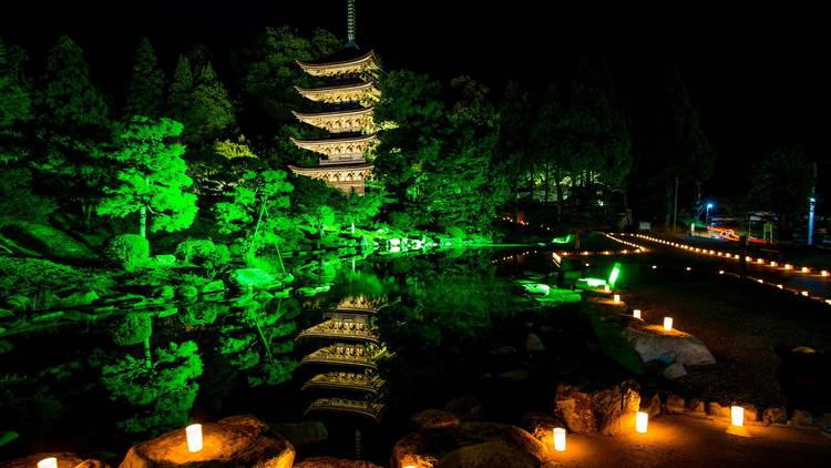 Rurikoji Temple five-storey pagoda
