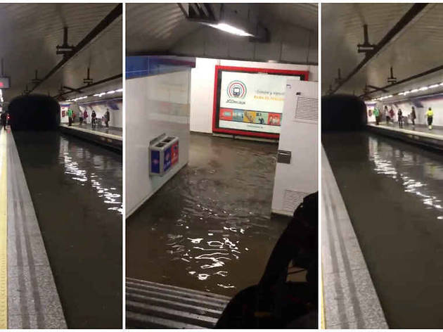 Inundaciones en el Metro de Madrid