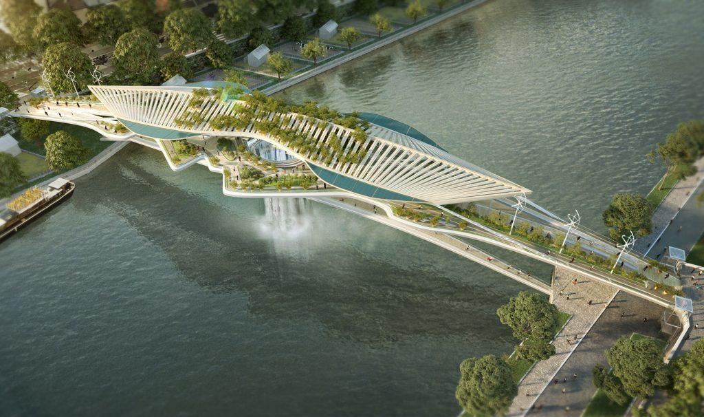 Cet immense pont végétalisé pourrait un jour enjamber la Seine !